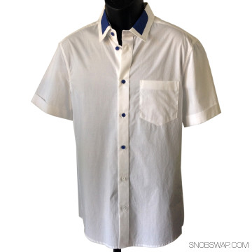 3.1 Phillip Lim White Short Sleeved Button Down Shirt