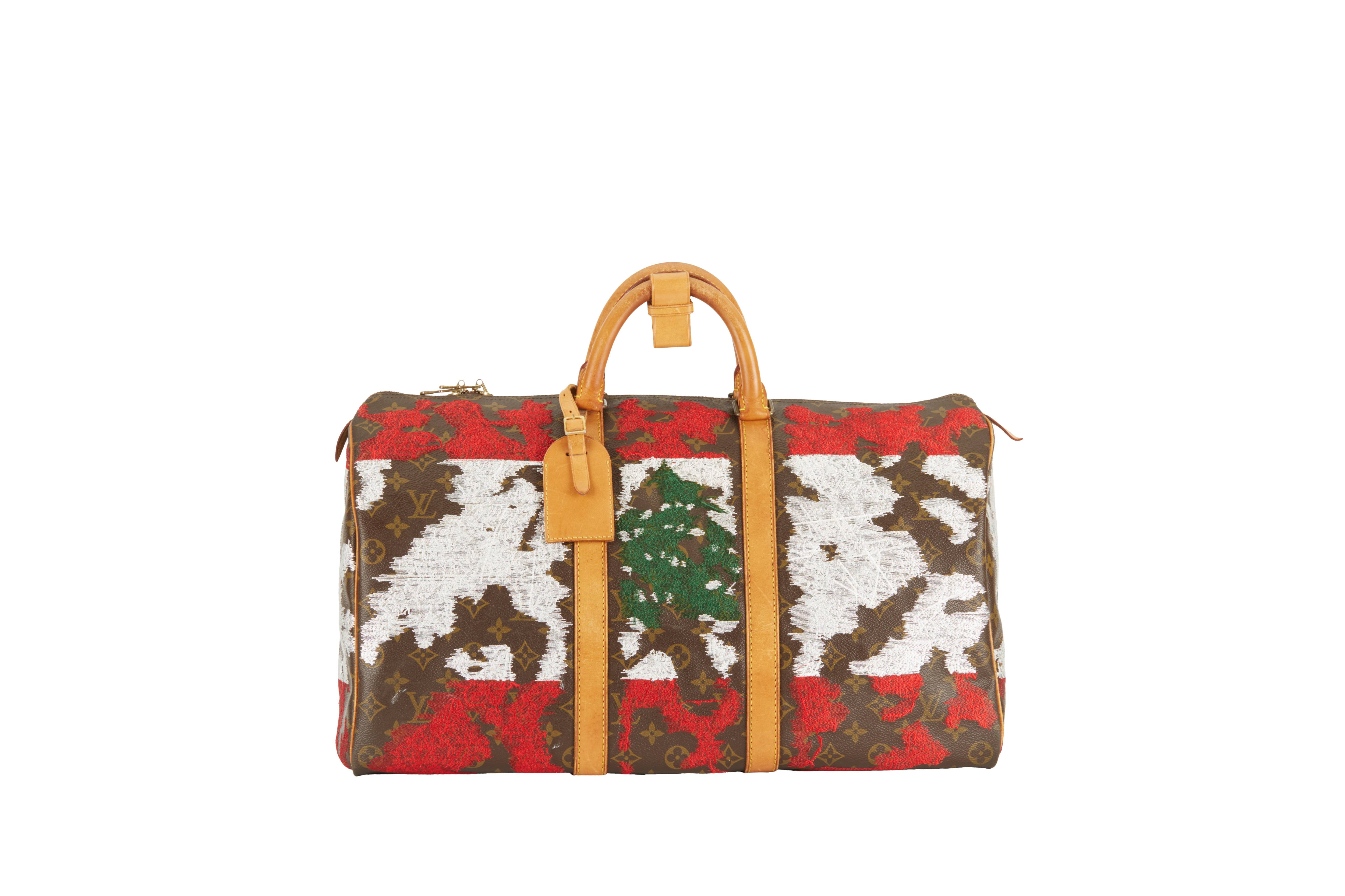 34582d81245c The Vintage Louis Vuitton Keepall X Jay Ahr Embroidery Collection ...