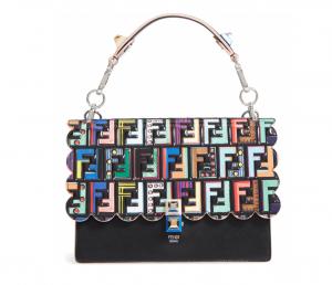 62c59685d5ed Fendi Kan I Zucca Patent   Leather Handbag